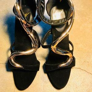 GIUSEPPE ZANOTTI like Suede Snake Sandal size 39